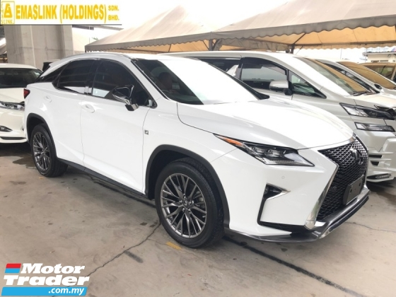 2016 LEXUS RX RX200t F Sport 2.0 Turbocharged Panoramic Roof Pre-Crash Head Up Display Running LED Intelligent Lane Departure Assist Multi Function Paddle Shift Steering Smart Entry Lane Departure Assist Bluetooth Connectivity Unreg