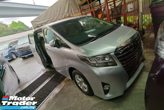 2015 TOYOTA ALPHARD 2.5 X 2 POWER DOORS POWER BOOTH 2WD 2015 JAPAN UNREG