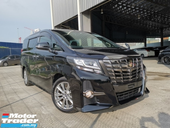 2017 TOYOTA ALPHARD 2.5 SA TYPE BLACK OFFER BLACK COLOR UNREG