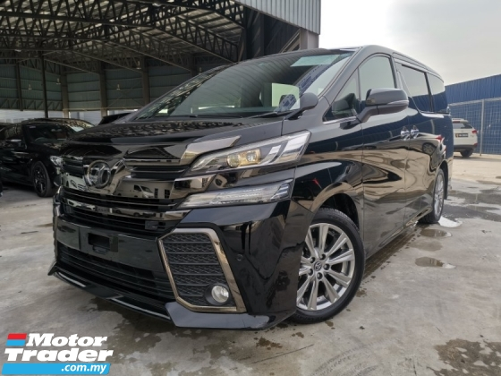 2016 TOYOTA VELLFIRE 2.5 ZA Z Golden Eyes BLACK PRECRASH OFFER UNREG