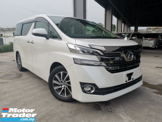 2015 TOYOTA VELLFIRE 2.5 V POWER BOOT WHITE OFFER UNREG