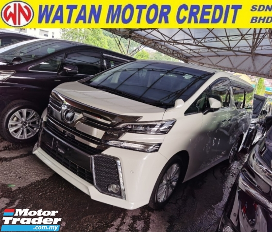 2015 TOYOTA VELLFIRE 2.5 Z 7 SEATERS 2 POWER DOORS POWER BOOTH 4 CAMERA 2015 JAPAN UNREG