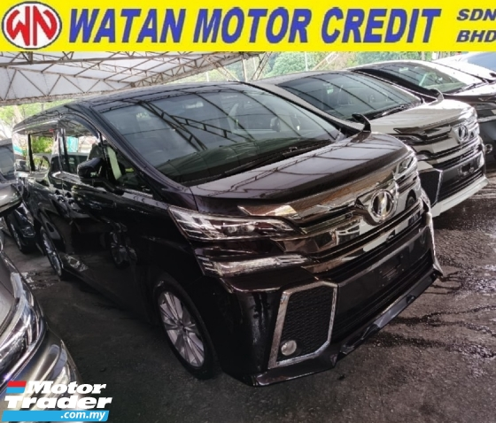 2015 TOYOTA VELLFIRE 2.5 Z 7 SEATERS POWER DOORS POWER BOOTH 4 CAMERA 2015 JAPAN UNREG