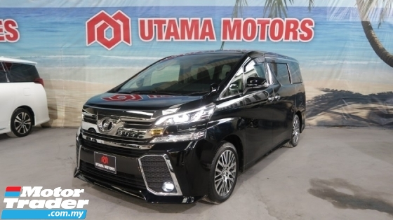 2015 TOYOTA VELLFIRE 2.5 ZG ALPINE SUNROOF ELECTRIC SEATS YEAR END SALE SPECIAL FAST APPROVAL