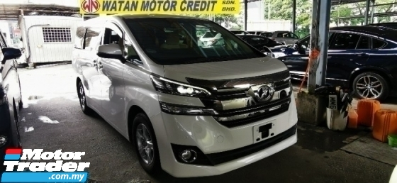 2016 TOYOTA VELLFIRE 2.5 UNREG.HI SPEC.INCLUDED SST.TRUE YEAR MADE CAN PROVE.3 POWER DRS N BOOT.360 SURROUND CAMERA.LED DAYLIGHT,KEYLESS N ETC.FREE WARRANTY N MANY GIFTS