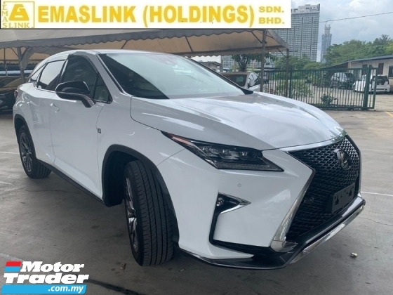 2016 LEXUS RX  200t 2.0 F Sport SUV New Arrival 2.xx% Interest Rate Up to 9Years SST INCLUSIVE HUD Full Leather Price Negotiable Unregister