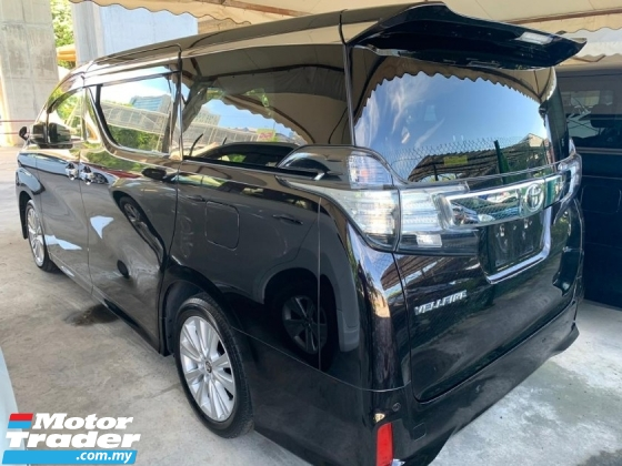 2015 TOYOTA VELLFIRE 2.5ZA Edition MPV SST INCLUSIVE 2.xx LOAN UP TO 9YEARS CHEAPEST IN TOWN ANDROID PLAYER 360 SURROUND CAMERA POWER BOOT 7S 2 POWER DOOR UNREGISER