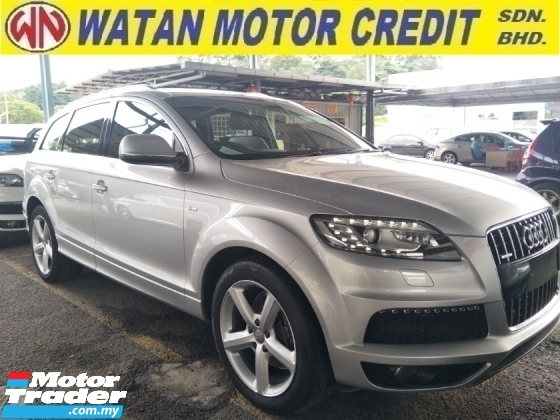 2014 AUDI Q7 3.0 DIESEL 245 HP POWER BOOT PADDLE SHIFT 7 SEATER 20 SLINE SPORT RIM FREE WARRANTY