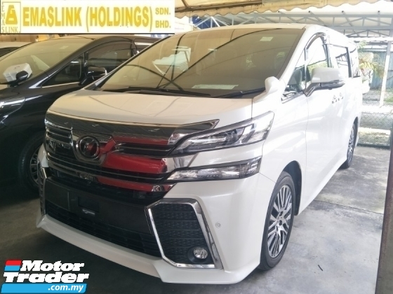 2017 TOYOTA VELLFIRE 2.5 ZG 360 CAMERA PRE CRASH STOP SYSTEM POWER BOOT AUTO CRUISE FREE WARRANTY