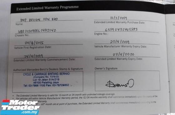 2015 MERCEDES-BENZ E-CLASS E300 AMG FULL SPEC BLUETEC HYBRID DIESEL FULL SERVICE RECORD BY MERCEDES MALAYSIA