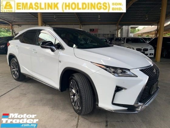 2017 LEXUS RX RX200t 2.0 F Sport Red Interior Surround Camera Panoramic Roof Power Boot Auto Fold Rear Seat Head Up Display BSM PCS UNREGISTER SST INCLUSIVE LOW INTEREST LOAN UP to 9YEARS PRICE NEGOTIABLE