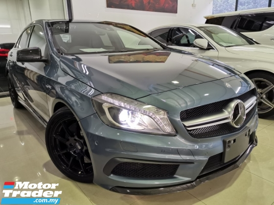 2015 MERCEDES-BENZ A45 AMG 4MATIC EDITION 1 BLUE GREY PANROOF HARMAN KARDON OFFER UNREG