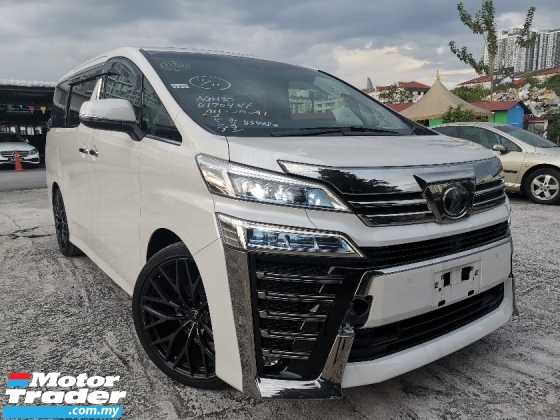 2018 TOYOTA VELLFIRE 2.5 ZG FULL SPEC JBL/SUNROOF/PRE CRASH/FULL LEATHER UNREG