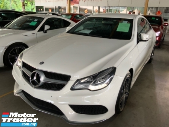 2014 MERCEDES-BENZ E-CLASS E200 2.0 AMG sport package coupe W207 2 years warranty unregistered