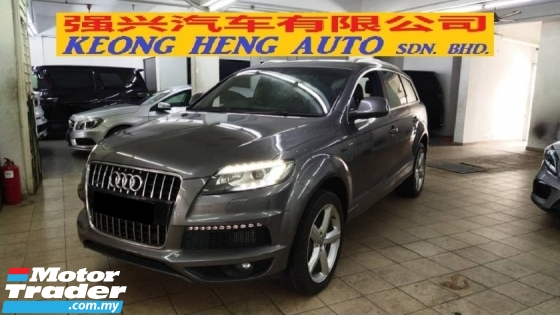 2011 AUDI Q7 3.0 V6 TDI S LINE QUATTRO (A) REG 2014, DIESEL ENGINE, UK SPEC, ONE CAREFUL OWNER, 100% ACCIDENT FREE, LOW MILEAGE DONE 59K KM, FREE 2 YEARS CAR WARRANTY OF ENGINE & GEARBOX, 20\