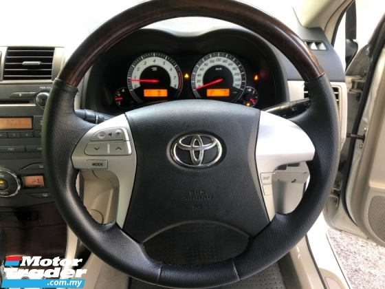 2012 TOYOTA COROLLA ALTIS 1.8 G FACELIFT (A) DUAL VVT-i 1 OWNER