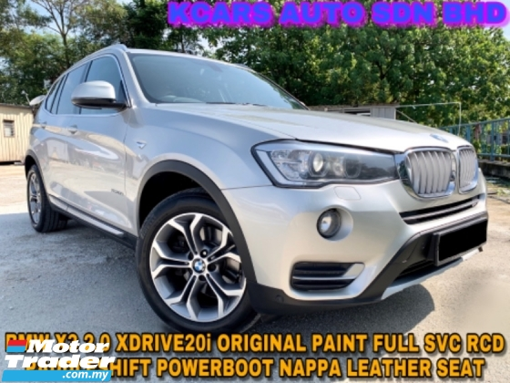 2016 BMW X3 X DRIVE20i FULL SVC RCD ORI PAINT FREE WARRANTY