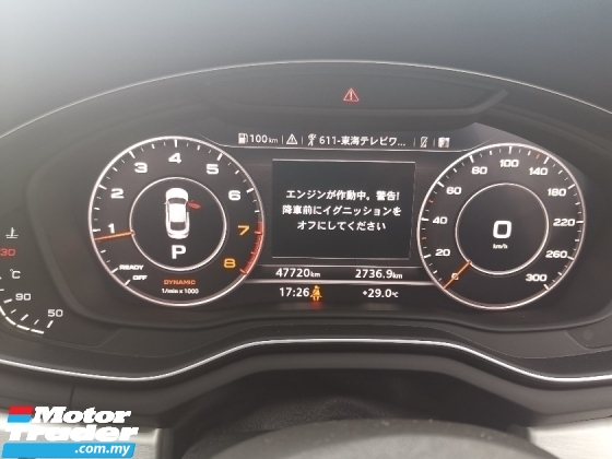 2017 AUDI A5 2.0 TFSI QUATTRO SPORTBACK FACELIFT SLINE JAPAN SPEC UNREG