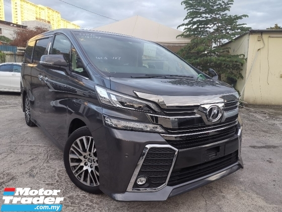 2017 TOYOTA VELLFIRE 2.5 ZG SUNROOF/2 POWER DOOR/POWER BOOT UNREG