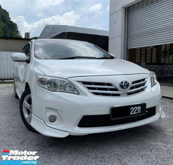 2011 TOYOTA COROLLA ALTIS 1.8 G DUAL VVT-I  AT 7-SPEED ONE OWNER LOW MILEAGE