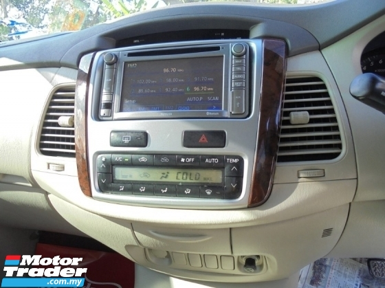 2012 TOYOTA INNOVA  INNOVA 2.0 G Facelift NAVI R/Camera LikeNEW