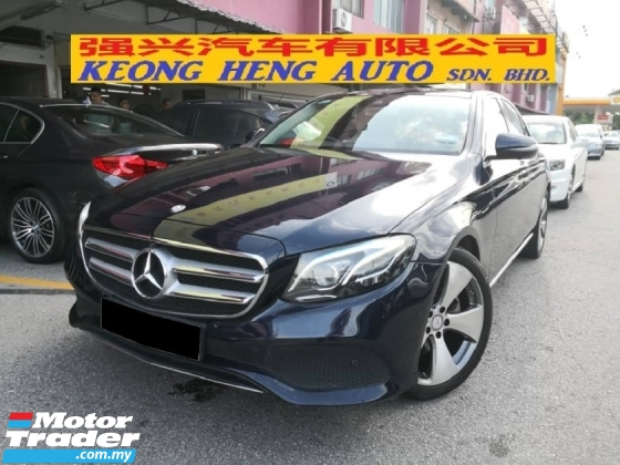 2016 MERCEDES-BENZ E-CLASS E250 2.0 W213 New Model CBU Avantgarde Pre Reg Hap Seng Car Mil 12k km only Warranty to June 2023