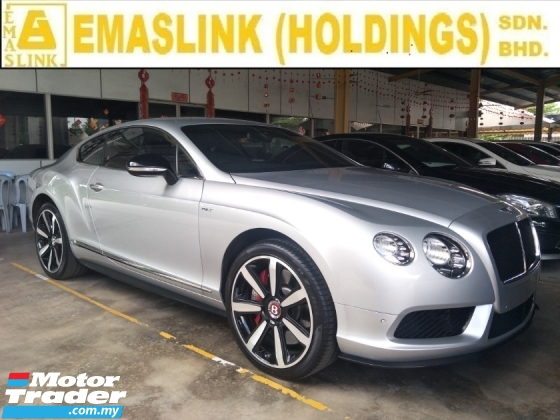 2015 BENTLEY CONTINENTAL 4.0 V8S HIGHT SPEC BENTLEY NAIM SURROUND SOUND SYSTEM POWER BOOT PADDLE SHIFT MEMORY SEATS
