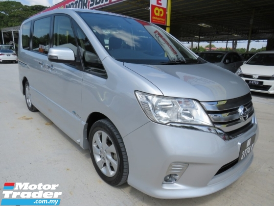 2015 NISSAN SERENA 2.0 (A) Hybrid One Owner 2 Power Door Push Start Keyless CD DVD Navi Player Accident Free High Loan Tip Top Condition Must View