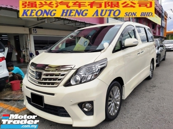 2013 TOYOTA ALPHARD 240S PRIME SELECTION II TYPE GOLD FACELIFT (FREE 2 YEARS WARRANTY)