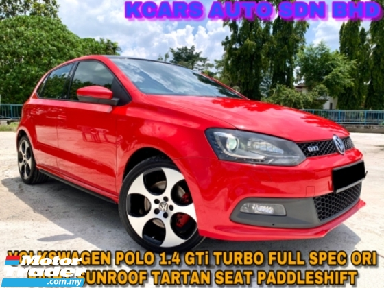 2014 VOLKSWAGEN POLO 1.4 GTi FULL SPEC SUNROOF TARTAN SEAT ORI PAINT
