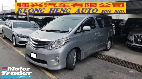 2008 TOYOTA ALPHARD 2.4 VVTI (A) S MODEL, CAREFUL OWNER, 7 SEAT, 2 POWER DOOR, REVERSE CAMERA, 100% ACCIDENT FREE, LOW MILEAGE DONE 88K KM, 18\