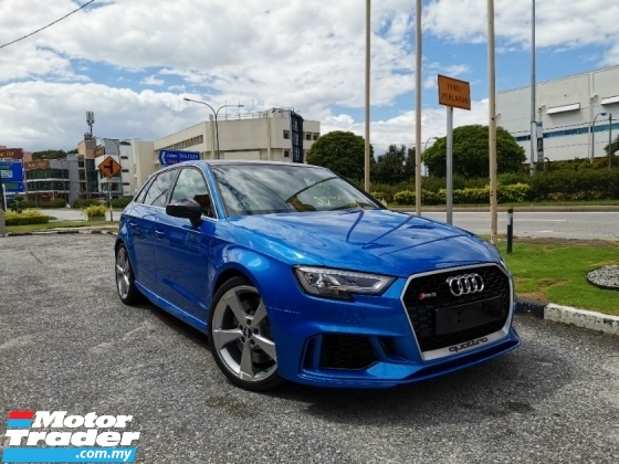 2018 AUDI RS3 2.5L SPORTBACK TFSi S-TRONIC 400-HP* U.K AUDI APPROVED PRE-OWNED* GENUINE MILEAGE* RS4 RS5 RS6 M5 M6