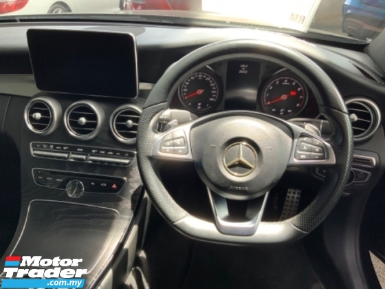 2016 MERCEDES-BENZ C-CLASS C300 AMG Coupe panoramic roof keyless entry Burmester sound system paddle shift memory seat unreg