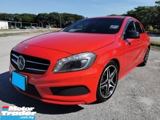 2014 MERCEDES-BENZ A-CLASS A180 AMG JAPAN SPEC 1.6 AMG BODYKIT SEMILEATHER SEAT