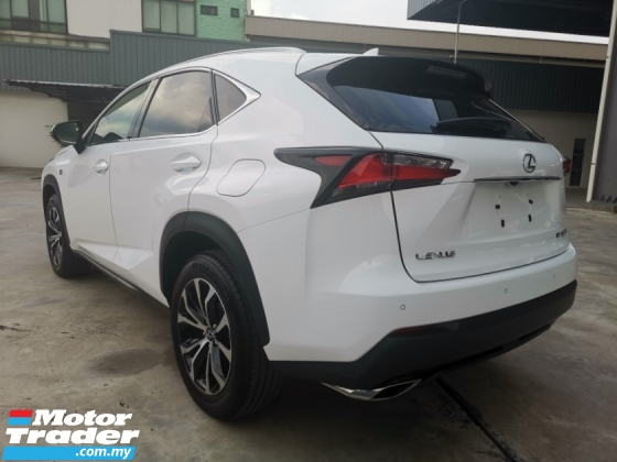 2017 LEXUS NX 200T FSPORTS - 4 CAMERA/SUNROOF/RED LEATHER SEAT/PRECRASH/BSM - JAPAN UNREG