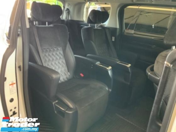 2017 TOYOTA VELLFIRE 2.5 sunroof power boot surround camera pilot leather seat keyless entry push start unregistered