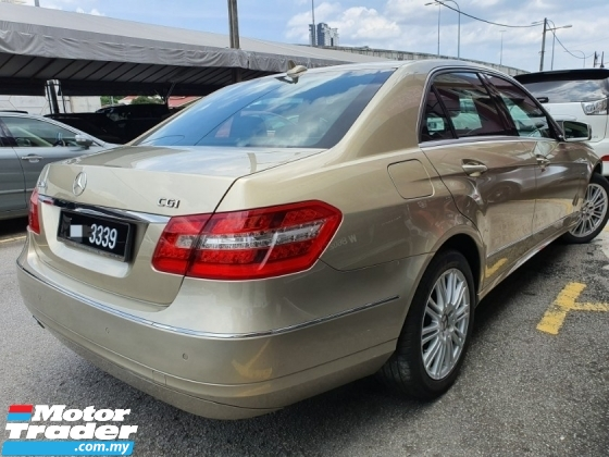 2011 MERCEDES-BENZ E-CLASS E200 CKD 1 Owner 2011 (FREE 2 YEARS WARRANTY)