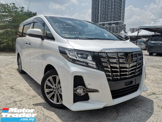 2017 TOYOTA ALPHARD 2.5 SA TYPE BLACK 7 SEATS/2 POWER DOOR/POWER BOOT UNREG