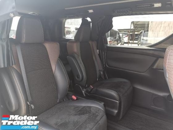 2017 TOYOTA ALPHARD 2.5 SA TYPE BLACK 7 SEATS/2 POWER DOOR/POWER BOOT UNREG