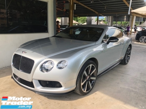 2015 BENTLEY CONTINENTAL GT Coupe V8 S 4.0 Twin-Turbo 528hp Mulliner Package Naim Surround PRO Keyless-GO Full-LED Memory Air Cond Seat Multi Function Paddle Shift Steering Lift Suspension Breitling Analogue Reverse Camera Automatic Power Boot Unreg