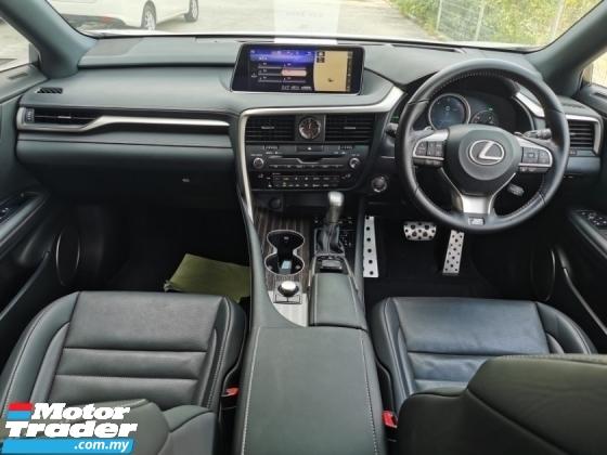 2017 LEXUS RX 200T F-SPORT PCS - HUD - LKA- Unregistered