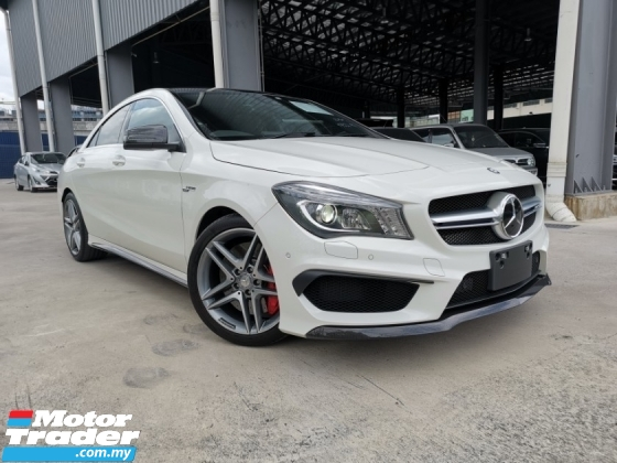 2015 MERCEDES-BENZ CLA 45 AMG 4MATIC CARBON TRIM WHITE OFFER LOW MILEAGE PANROOF UNREG