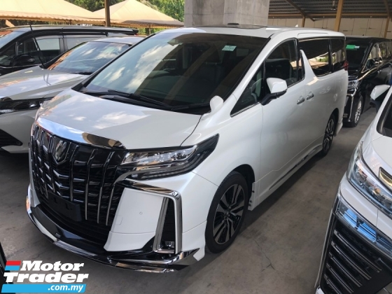 2019 TOYOTA ALPHARD 2.5 SC Full Modelista Edition 3 Full LED Lights Full Display Mirror Blind Spot 360 Surround Camera Sun Roof Moon Roof Pilot Full Leather Ventilation Seat Power Boot Power Doors Pre Crash Lane Departure Warning Road Sign Assist Bluetooth 9 Air Bags Unreg
