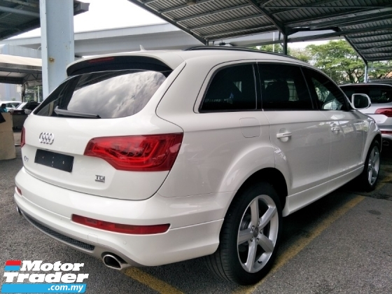 2013 AUDI Q7  Q7 3.0 S LINE DIESEL TURBO SUPERCHARGED 245HP 8 SPEED AUTOMATIC MULTI FUNCTION STEERING  7 SEATER