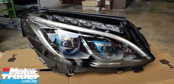 MERCEDES BENZ W205 C CLASS HEAD LAMP  NEW USED RECOND CAR PARTS SPARE PARTS AUTO PART HALF CUT HALFCUT GEARBOX TRANSMISSION MALAYSIA Enjin servis kereta potong separuh murah MERCEDES BENZ Malaysia