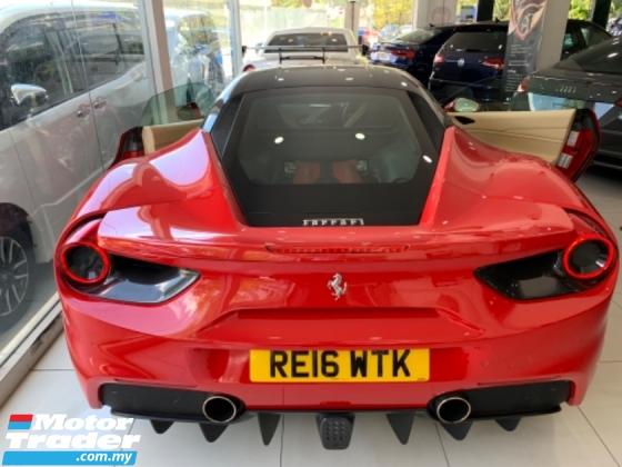 2016 FERRARI 488 GTB FUNKY RED UNREG 3.9 COUPE UK