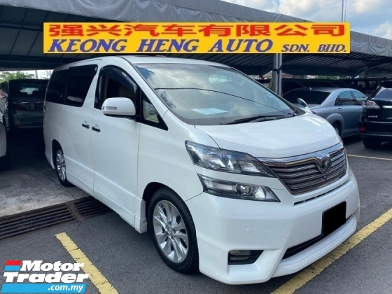 2010 TOYOTA VELLFIRE 3.5V L EDITION (FREE 2 YEARS WARRANTY) REG 2014