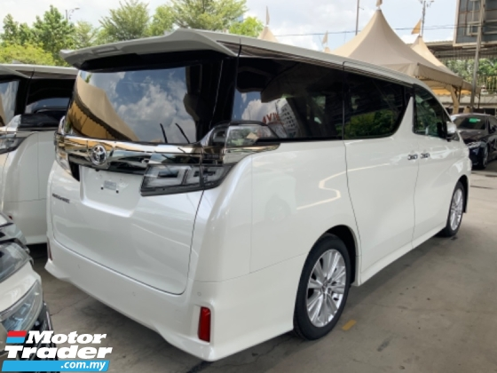 2019 TOYOTA VELLFIRE 2.5 Z sunroof precrash system surround camera power boot 7 seaters 2 power doors