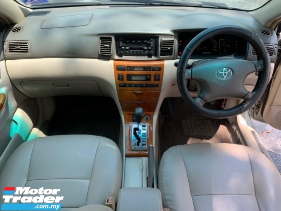 2001 TOYOTA COROLLA ALTIS 1.8 (A) SEDAN LEATHER SEAT 1 LADY OWNER GOOD CONDITION ( CASH DEAL ONLY )