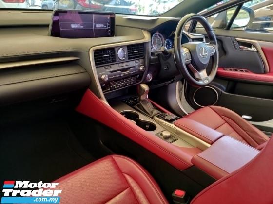 2016 LEXUS RX 200t F Sport 2.0 Turbocharged 245hp Pre-Crash Dynamic Radar Cruise Control Head Up Display